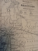 Map of CPR Mainline 1880's